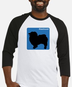 Keeshound (clean blue) Baseball Jersey