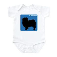 Keeshound (clean blue) Infant Bodysuit