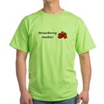 Strawberry Junkie Green T-Shirt