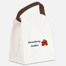 Strawberry Junkie Canvas Lunch Bag