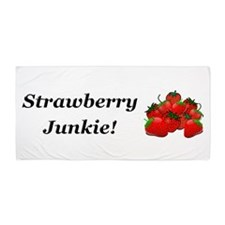 Strawberry Junkie Beach Towel