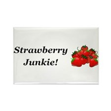 Strawberry Junkie Rectangle Magnet