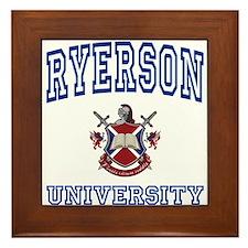 RYERSON University Framed Tile