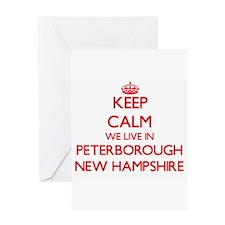 Keep calm we live in Peterborough N Greeting Cards