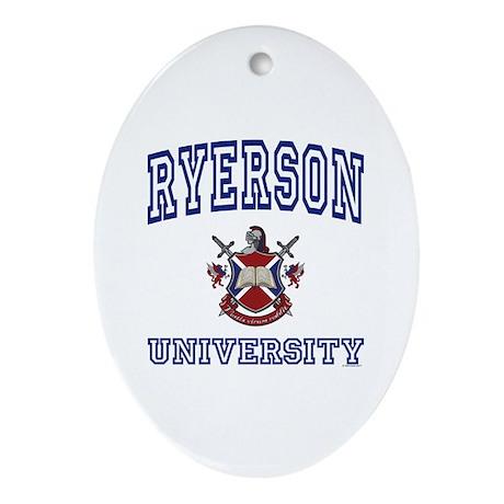 RYERSON University Oval Ornament