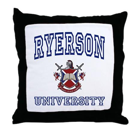 RYERSON University Throw Pillow