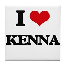 I Love Kenna Tile Coaster