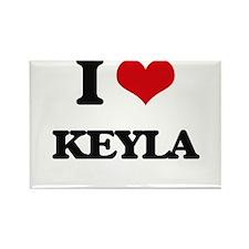 I Love Keyla Magnets
