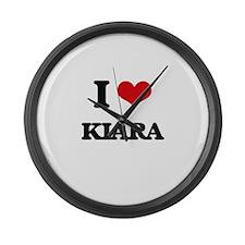 I Love Kiara Large Wall Clock