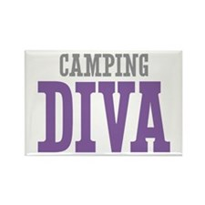 Camping DIVA Rectangle Magnet