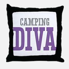 Camping DIVA Throw Pillow