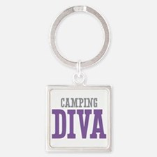 Camping DIVA Square Keychain