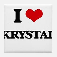 I Love Krystal Tile Coaster