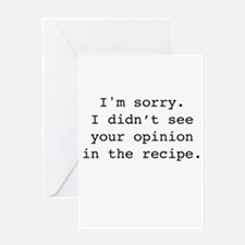 Cool Recipes Greeting Card