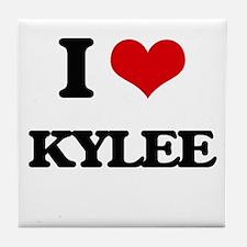 I Love Kylee Tile Coaster