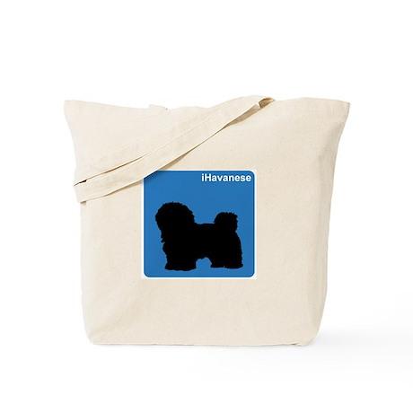 Havanese (clean blue) Tote Bag
