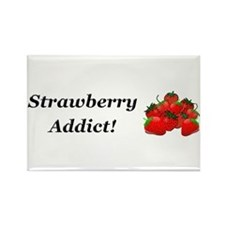 Strawberry Addict Rectangle Magnet