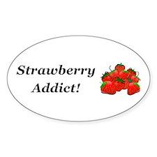 Strawberry Addict Decal