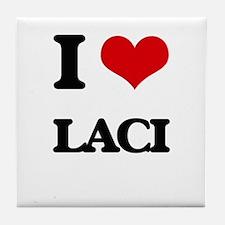 I Love Laci Tile Coaster