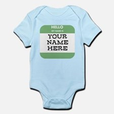 Custom Green Name Tag Body Suit