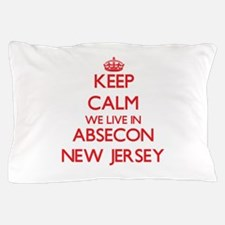 Keep calm we live in Absecon New Jerse Pillow Case