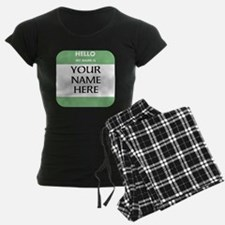 Custom Green Name Tag Pajamas
