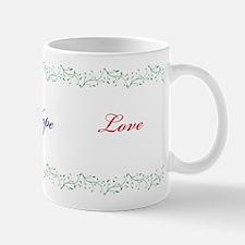 Faith, Hope, Love Mugs