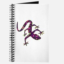 Purple Patchwork Lizard Journal