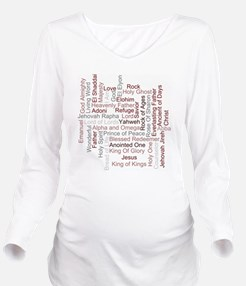 Names Of God Long Sleeve Maternity T-Shirt
