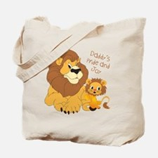 Lion, Daddy's Pride and Joy Tote Bag