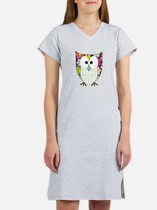 Floral Patchwork Owl Women's Nightshirt
