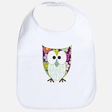 Floral Patchwork Owl Bib