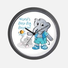 Elephant, World's Best Big Brother Wall Clock