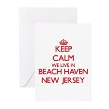 Keep calm we live in Beach Haven Ne Greeting Cards