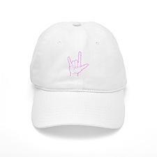 Pink I Love You Baseball Baseball Cap