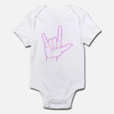 Pink I Love You Infant Bodysuit
