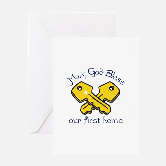 OUR FIRST HOME Greeting Cards