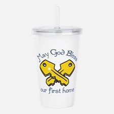 OUR FIRST HOME Acrylic Double-wall Tumbler