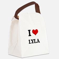I Love Lyla Canvas Lunch Bag