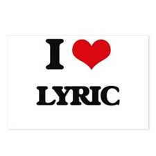 I Love Lyric Postcards (Package of 8)