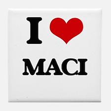I Love Maci Tile Coaster
