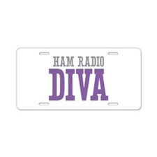 Ham Radio DIVA Aluminum License Plate