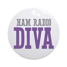 Ham Radio DIVA Ornament (Round)