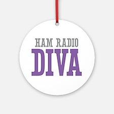 Ham Radio DIVA Ornament (Round)