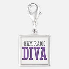 Ham Radio DIVA Silver Square Charm