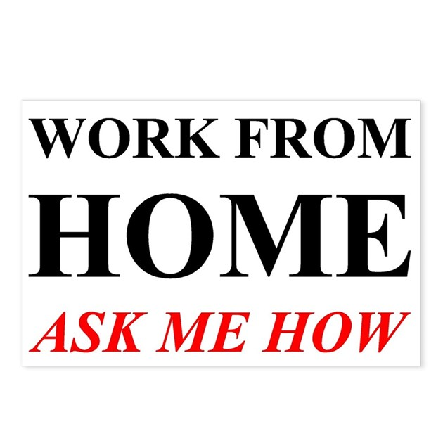 Work From Home Ask Me How Postcards Package Of 8 By