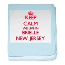 Keep calm we live in Brielle New Jers baby blanket