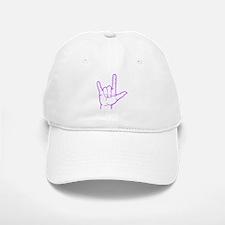 Purple I Love You Baseball Baseball Cap