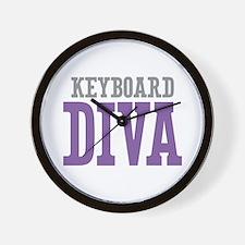 Keyboard DIVA Wall Clock