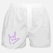 Purple I Love You Boxer Shorts